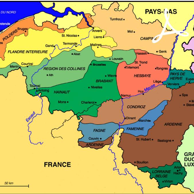 r u00e9sum u00e9 de les principales r u00e9gions naturelles belges